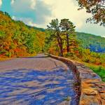 """Skyline Drive Road With Wall Fake HDR Bright Color"" by brianyoung81"