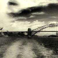 Sydney Bay in Sepia Art Prints & Posters by Lino Clemente