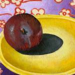 """Plum on Yellow Plate"" by AbbyCreekStudios"