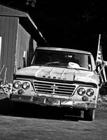 Old Dodge with Flag