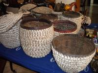 Antique Cowrie Baskets