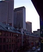 Dusk in downtown Boston