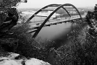 Austin 360 Bridge and Snow
