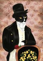 Cat Art Mr Darcy Romance