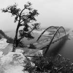 """Austin 360 Tree & Bridge with snow"" by treyerice"