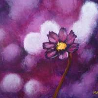 Purple Blossom Art Prints & Posters by Natalia Bishop