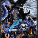 """Violet VAMP Rider"" by RecycledArt"