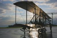 Wright B Flyer at Sunrise