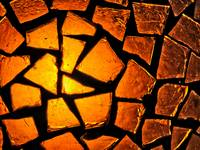 Amber Glass Mosaic