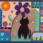"""Wondering Cat"" by careyscottart"