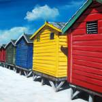 """Muizenberg beach Huts"" by AV"