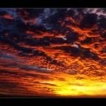 """""""Fiery Sunset"""" by WarrenT"""