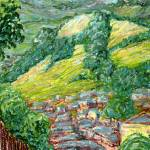"""Newtown Hills: Plein Air Oil Pastel Painting"" by Linandara"