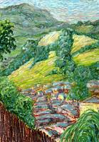 Newtown Hills: Plein Air Oil Pastel Painting