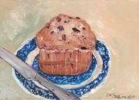 Blue Berry Muffin on Blue Willow