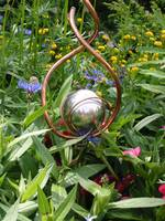 Gazing Ball in Garden