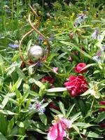 Gazing Ball Sprinkler in Garden