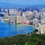 """Waikiki Beach from Diamond Head Volcano"" by DCPhotography"