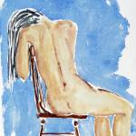 """sitting girl - nude"" by lamich"