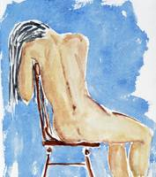 sitting girl - nude