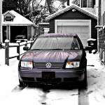 """Cold and Crisp Volkswagen Jetta"" by RegDesigns"