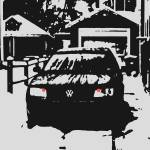"""B&W Volkswagen Jetta"" by RegDesigns"