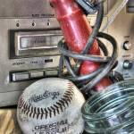"""Eight Track Player and Baseball in Relic Shop"" by jimcrotty"