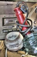 Eight Track Player and Baseball in Relic Shop