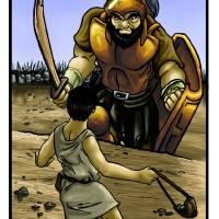 David and Goliath Art Prints & Posters by Fairness.com LLC