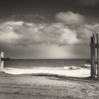 """Beach Fence - Wellfleet Cape Cod"" by Black_White_Photos"