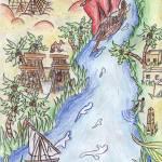 """""""Paysage égyptien"""" by Mystia"""