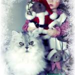 """Paris with Christmas Doll 2"" by JulieEverhart"