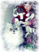Paris with Christmas Doll 2