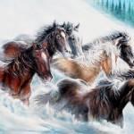 """Warm Coats, Cool Powder"" by UngerArt"