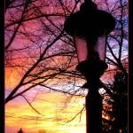 """Lamp Post at Sunset by J.Everhart"" by JulieEverhart"