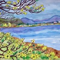 A-YellowDogwood-3 Art Prints & Posters by Genevieve Brynildsen
