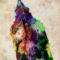 """London Big Ben Urban Art"" by ModernArtPrints"
