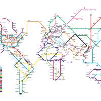 """World Tube Metro Map"" by ModernArtPrints"