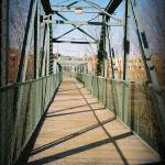 """Willimantic Footbridge"" by sarabodlak"