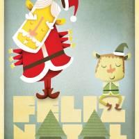 Cartão de Natal Art Prints & Posters by arielfajtlowicz