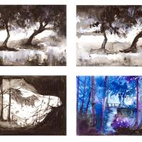 landscapes_sketches Art Prints & Posters by Ellem