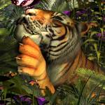 """""""Tiger and The Butterfly"""" by krypticeye"""