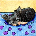 """""""Yorkie With Heart"""" by KiniArt"""