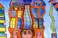 Whimsical, Fantastical, Wavy Buildings; Children's
