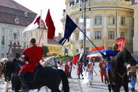 Medieval knights parade in Sibiu