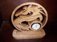 Dragon wood mini desk clock