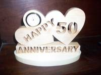 50th Anniversary Mini clock