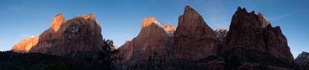Sunrise over the Patriarchs, Zion National Park