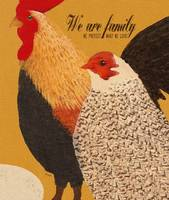 WE ARE FAMILY - ROOSTER, HEN & EGG