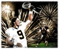 NFL New Orleans Saints Drew Brees Super Bowl MVP